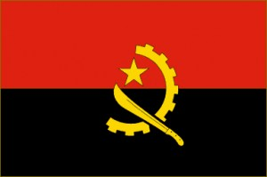 National flag: Angola
