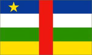 National flag: Central African Republic